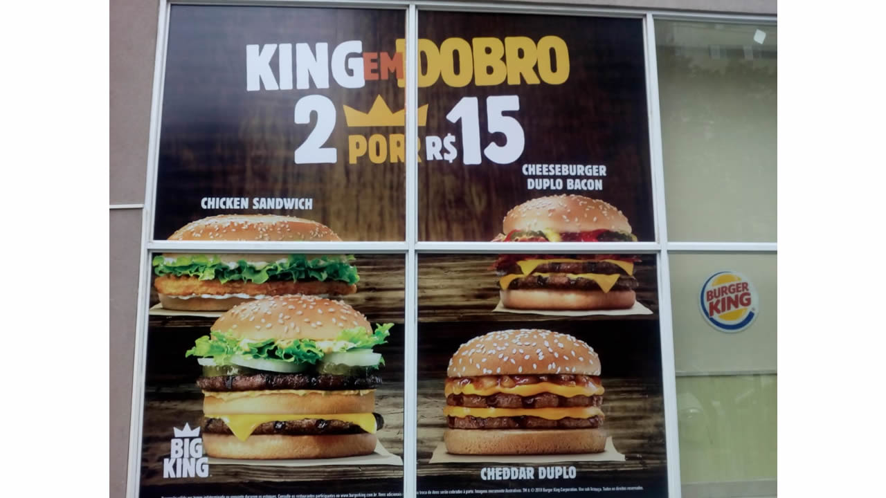 IMPRESSAO DIGITAL BURGUER KING